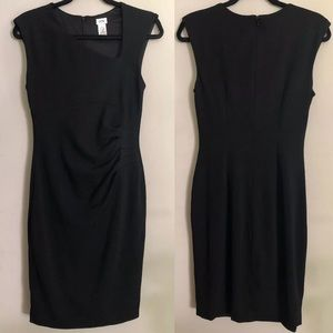 Cache Little Black Dress Size Small Side Gathered